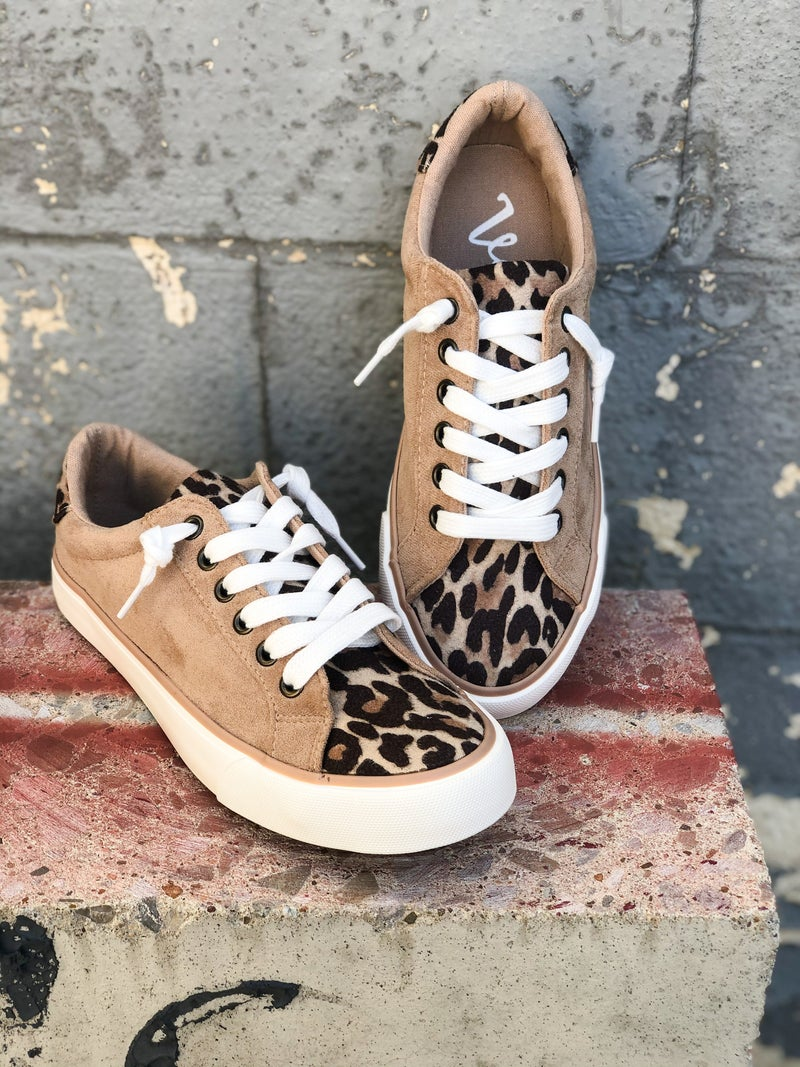 Solstice Taupe Animal Print Sneaker