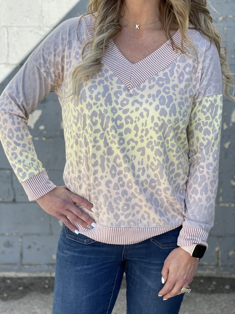 Mix It Up Ombre Animal Top