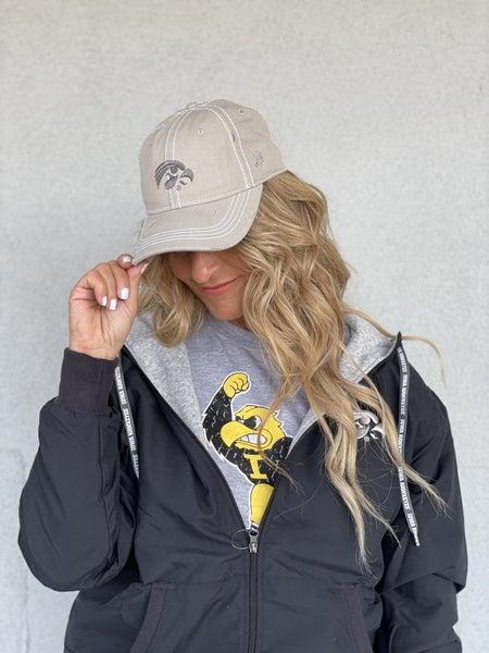 IOWA Belinda Lt Grey Tigerhawk Cap