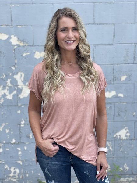 Lady Like That Mineral Wash Top