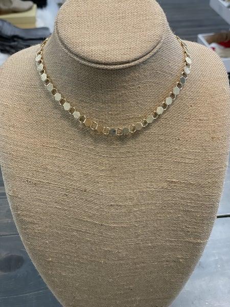 Golden Hexagon Necklace