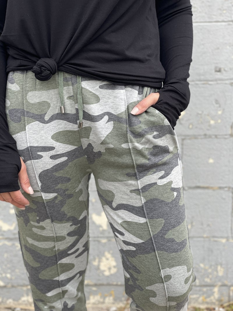 Going For It Camo Joggers