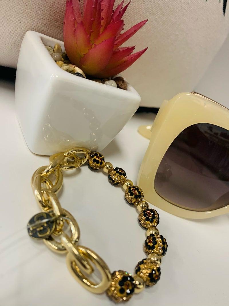 PP Cheetah Chain Stretch Bracelet