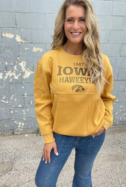 IOWA Old Gold Crew Sweatshirt