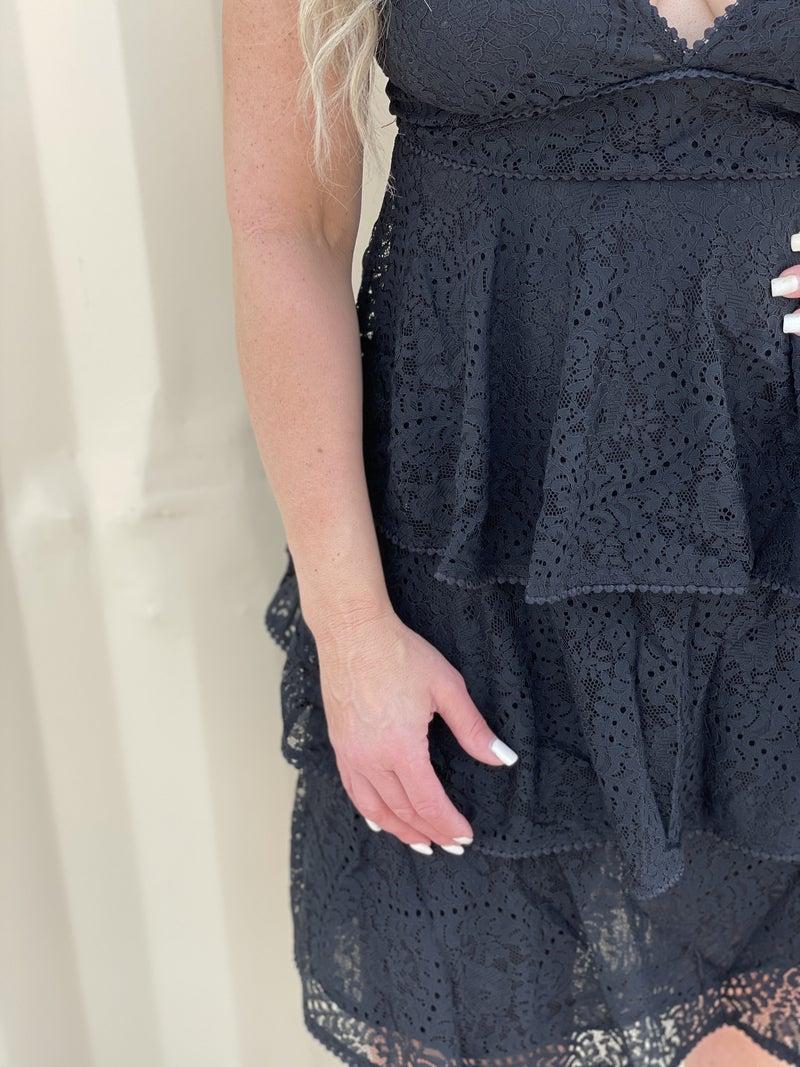 Layered Love Black Dress