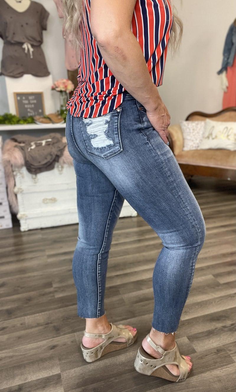 Judy Blue Joyce High Waist Ankle Jeans 91DK
