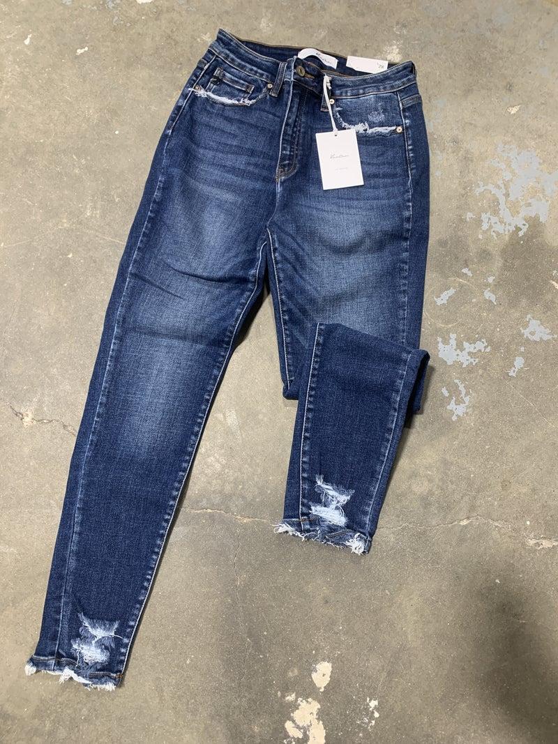 Skinny Distressed Ankle Jean KC134D *Final Sale*