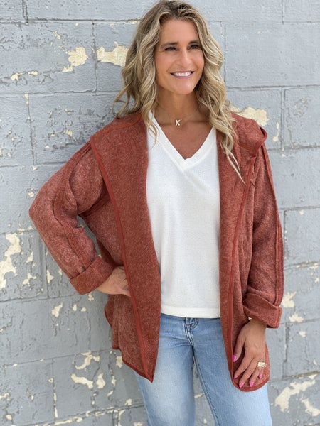 Can't Wait To Fall In Love Rust Jacket