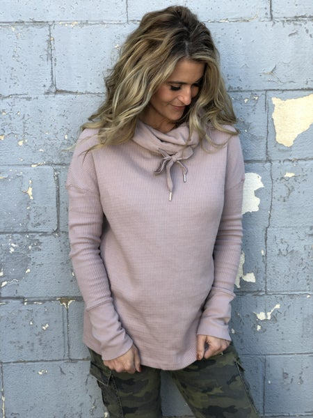 Mauve Magical Ribbed Top