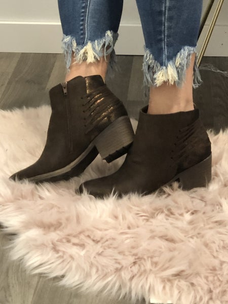 Brown Valence Booties *Final Sale*