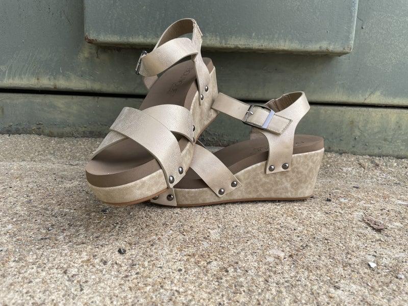 Flax Gold Animal Sandals