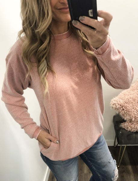 Feeling Fuzzy Dusty Pink Top