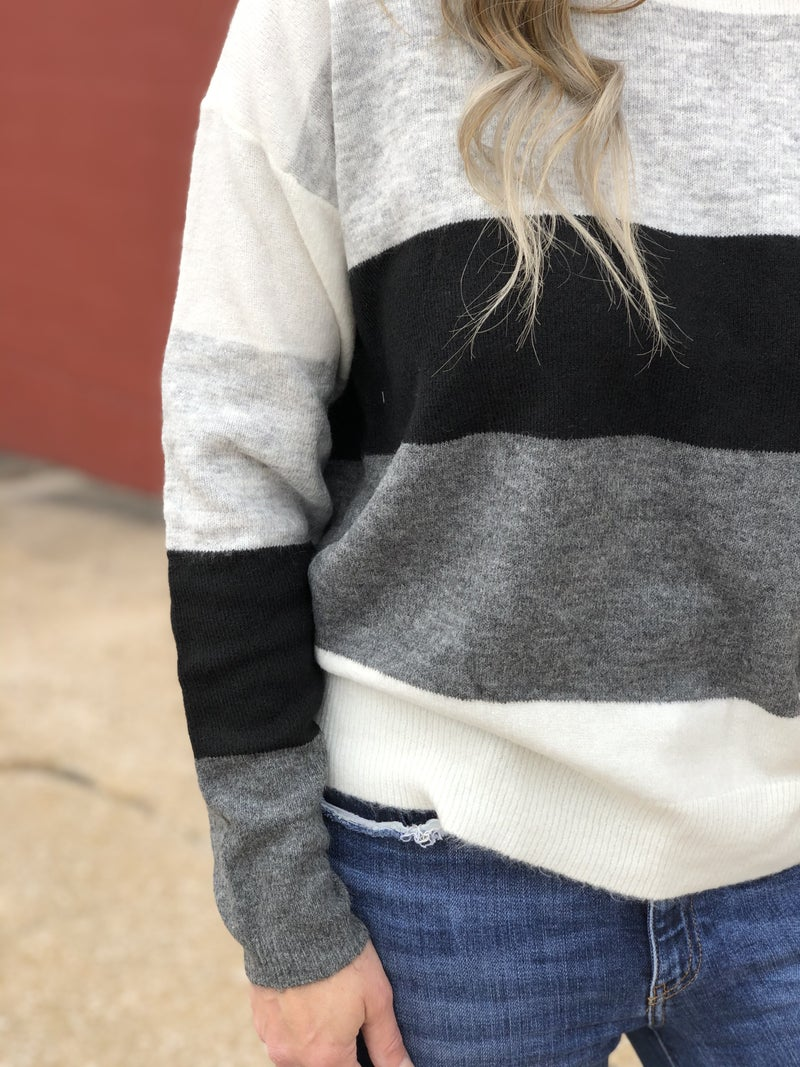 Faint Grey Lines Sweater