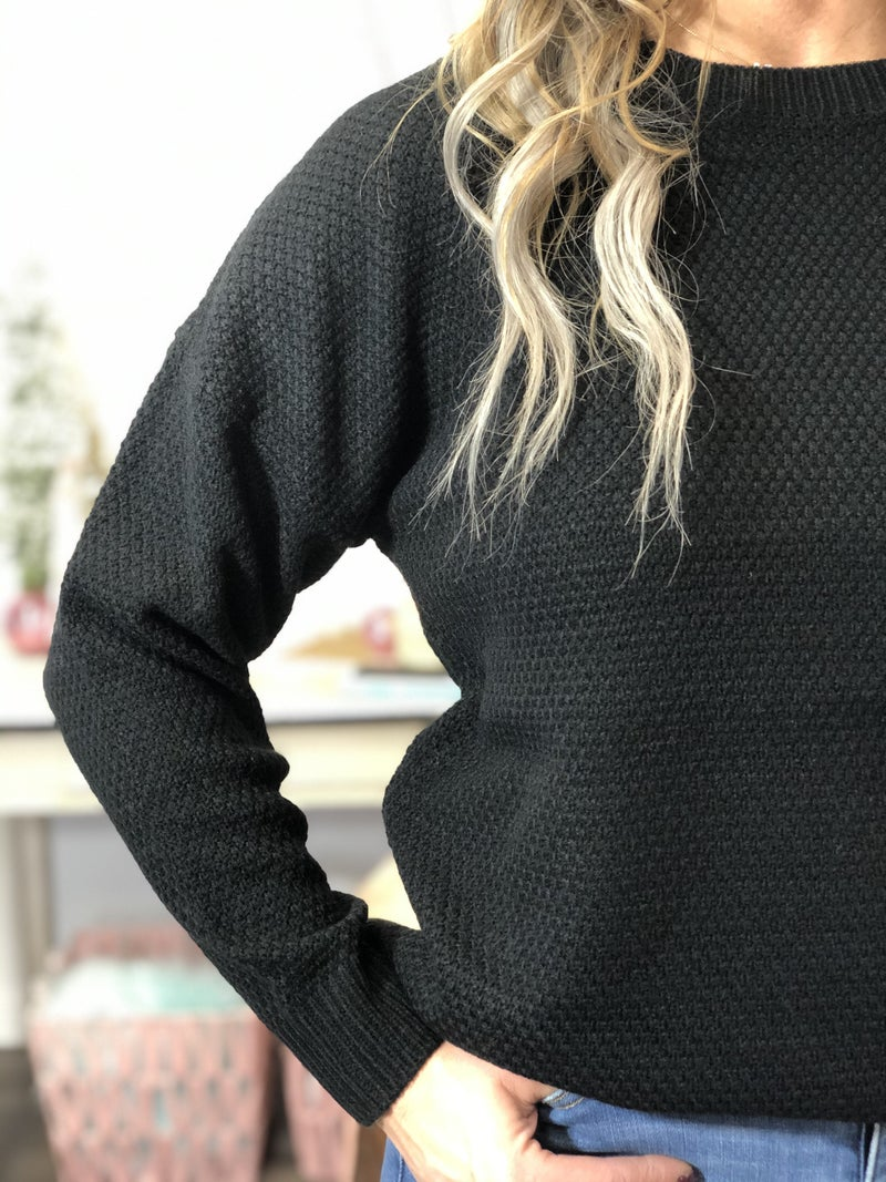 Great Go To Black Sweater *Final Sale*