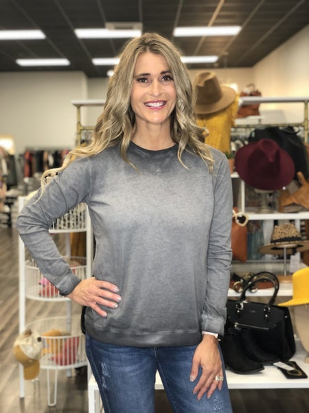 Mineral Wash Ombre Pullover Top *Final Sale*