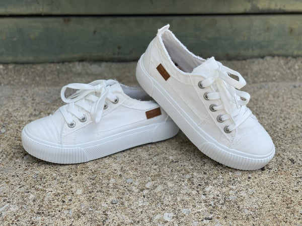 Blowfish Clay White Twill Sneakers