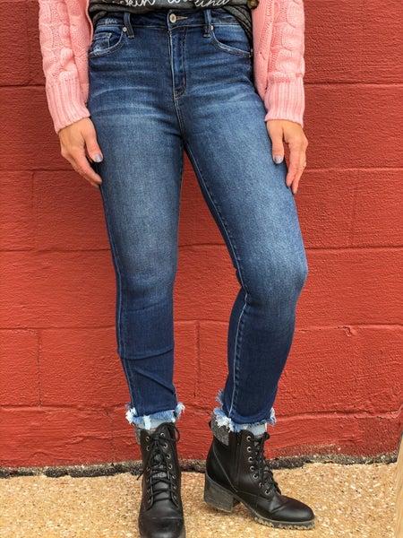 KanCan Lisa Fray Hem Skinny Jean 21D