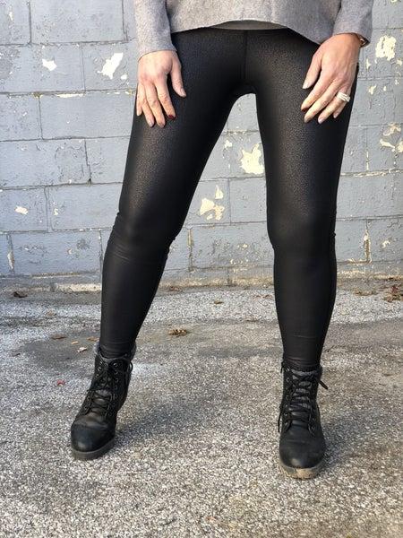 Pebble Faux Leather Leggings