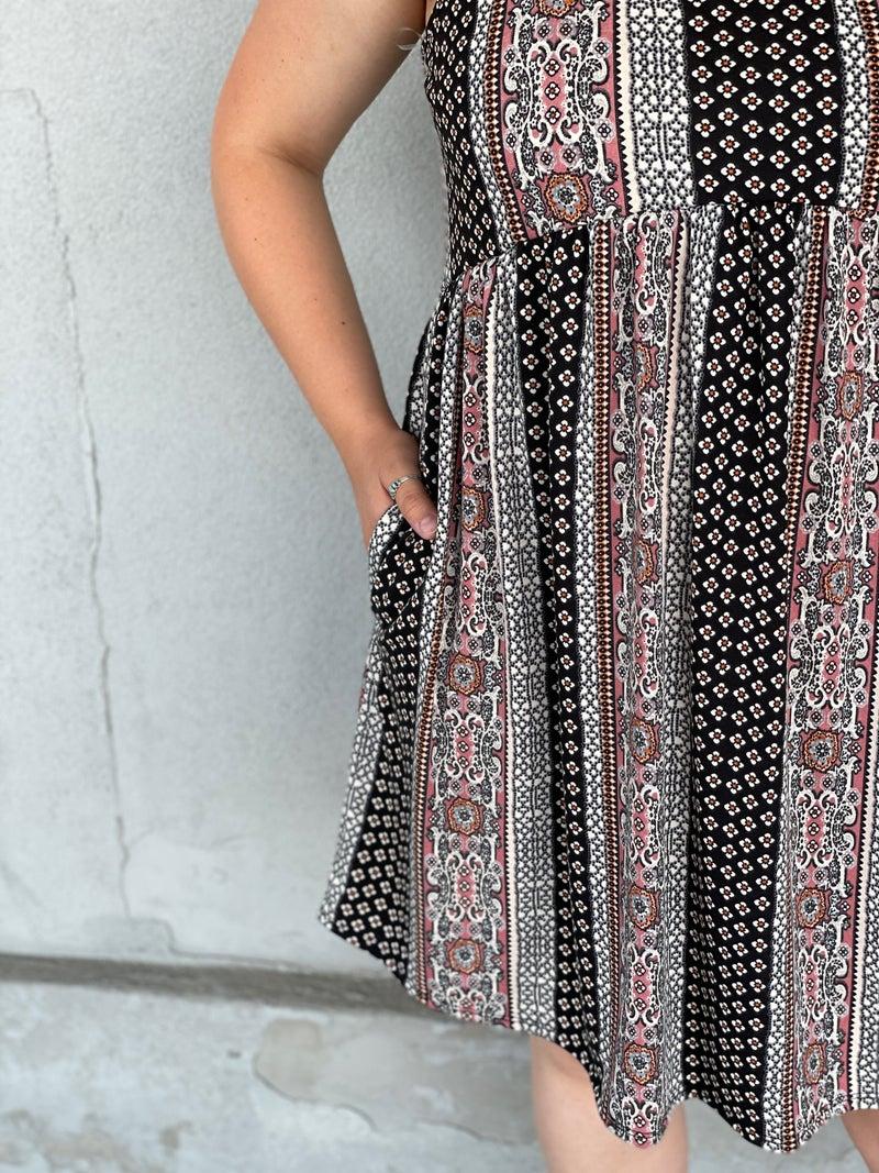 Patterned Delight Dress