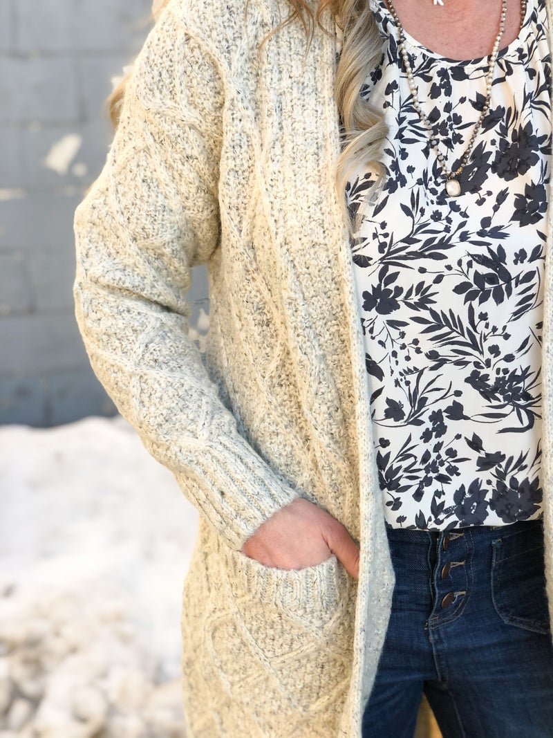 Forever In Love Ivory Cardigan