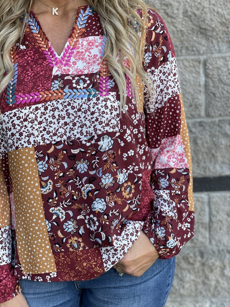 Patchwork On Point Top