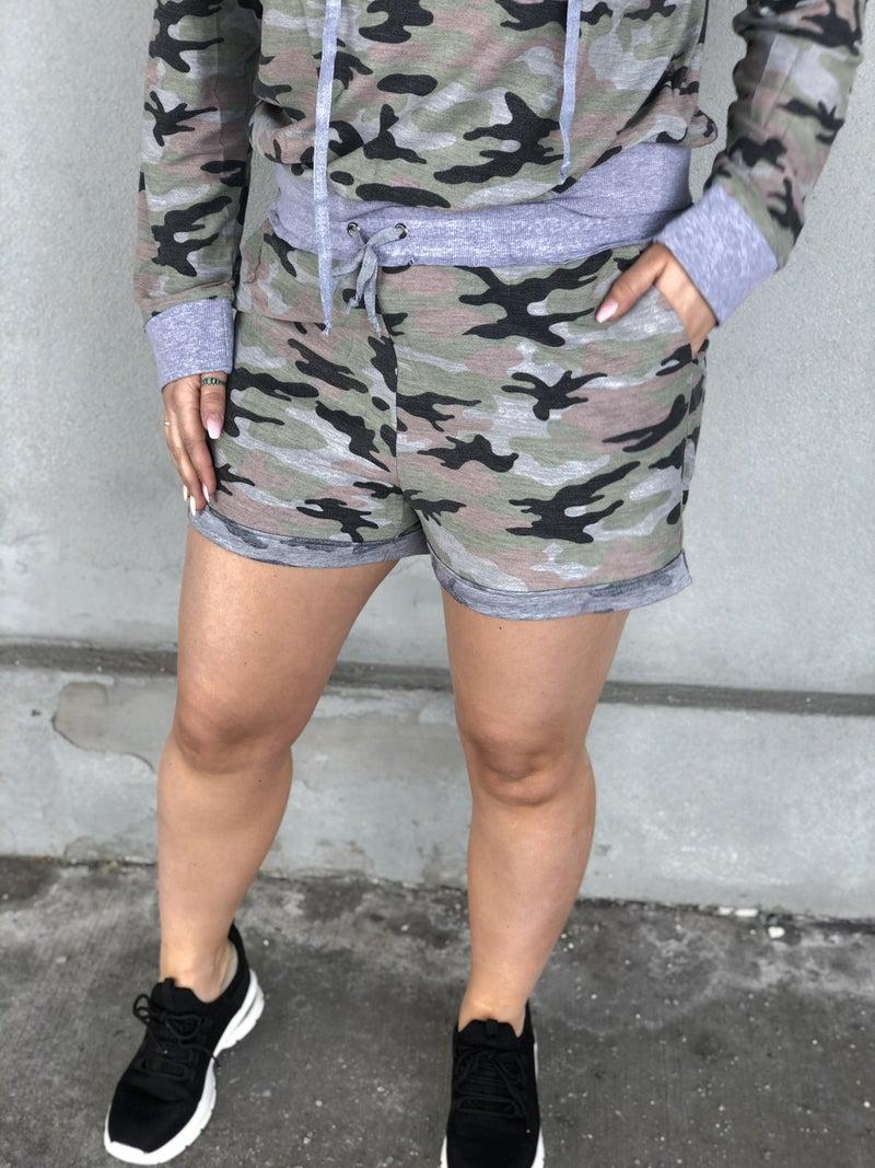 Girl Talk Camo Shorts
