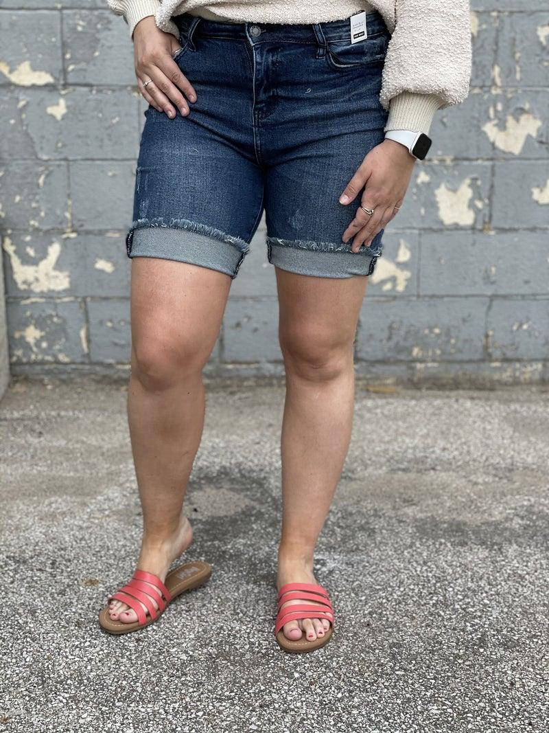 Judy Blue Katrina High Waisted Bermuda Shorts 31R