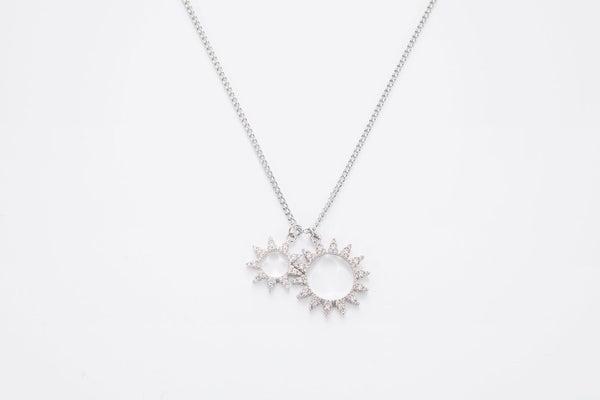 Melania Clara Luna The Sunny Silver Necklace