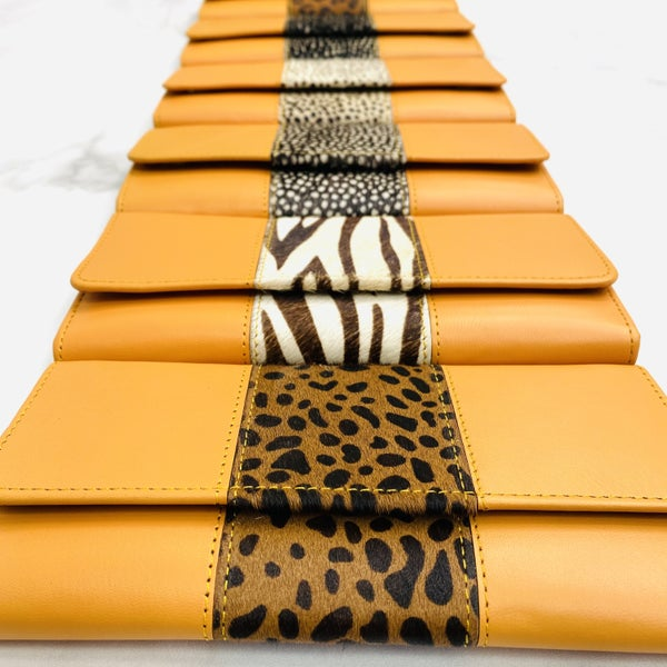 Ginger Bria Leather And Hair On Hide Wallet