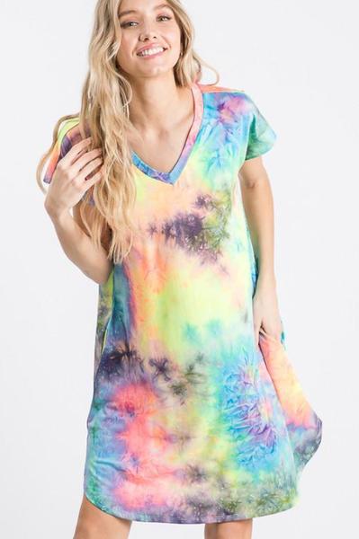 Tie Dye Splash Dress PREORDER