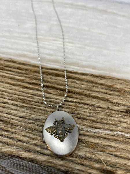 You Are Beeloved Locket Necklace