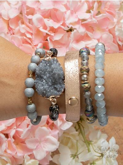 So Put Together Bracelet Set, Cloudy Day Grey