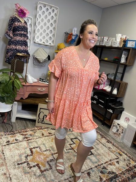 Flutter Sleeve Babydoll Dress