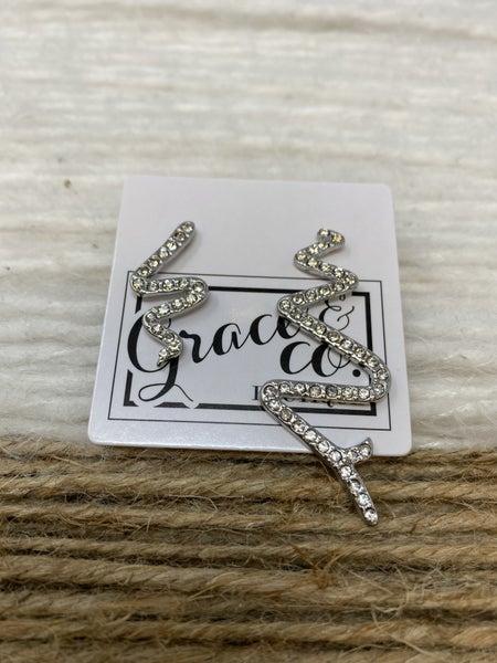 Sizzling silver crystal earrings