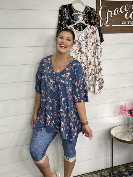 Spring flower Tunic Top