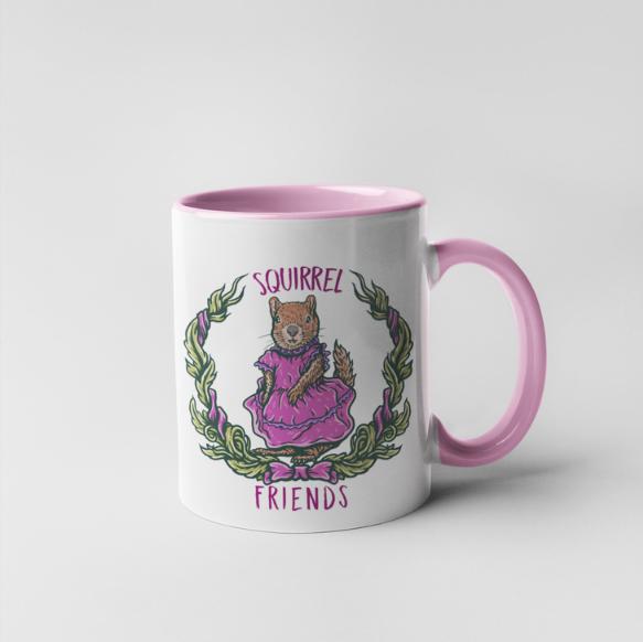 Squirrel Friends Mug - 15 oz