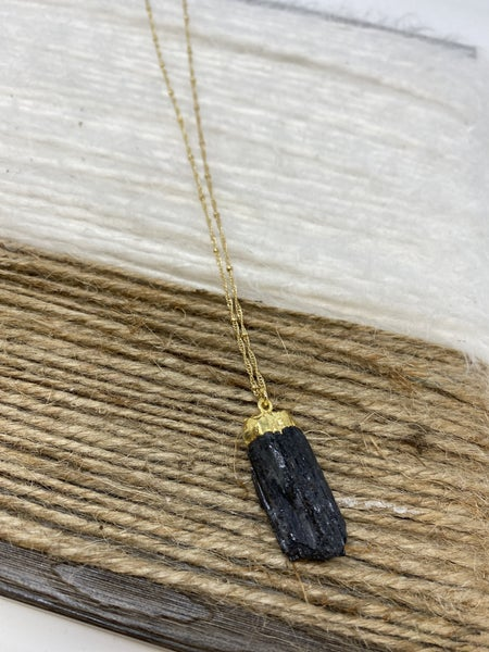 Midnight Stalagmite Necklace
