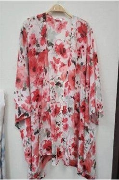 Floral Bliss Kimono - Ivory - PREORDER
