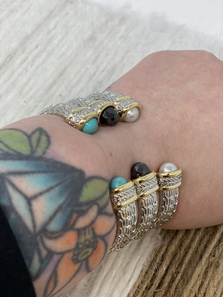 DY Inspired Cable Glam Bracelet Cuff