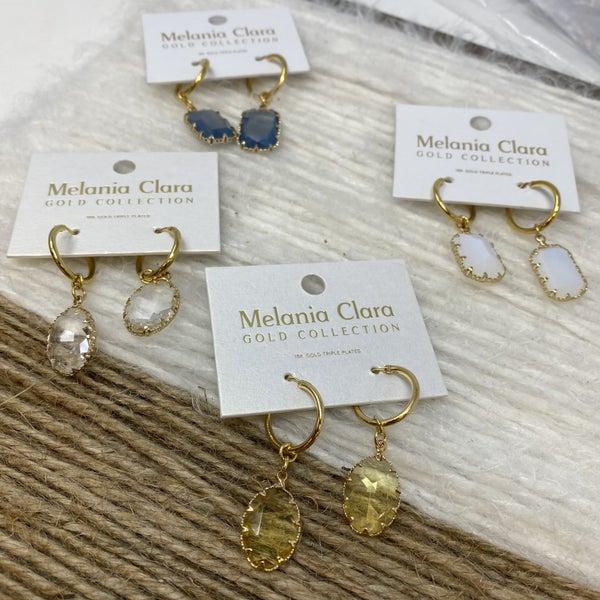 Melania Clara Sky Crystal Earrings