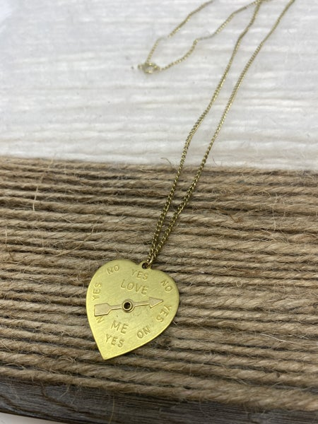 Check Yes or No Necklace
