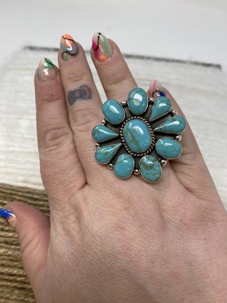 Manda Turquoise Sterling Ring