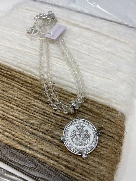 Melania Clara The Harmony Clear Stone Necklace