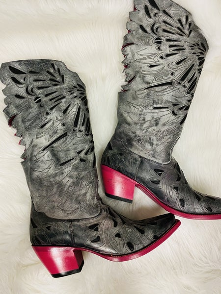 The Original Pink Sole Fly Girl Boot by Texi Boots