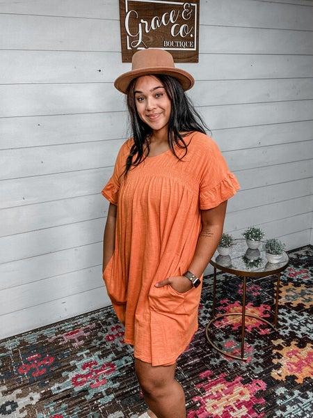Scoop Short Sleeve Tee Dress