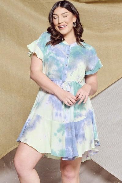 *Preorder* Oddi Sweet Bliss Tie-Dye Mini Dress