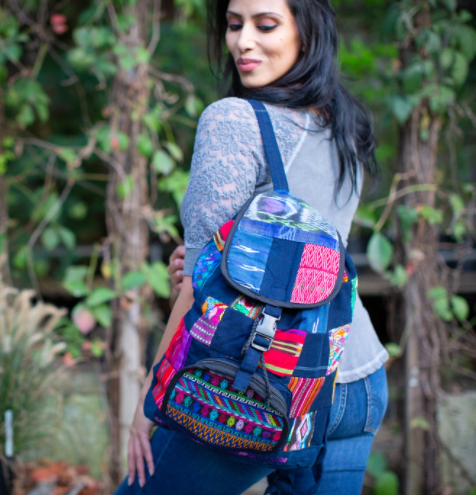 Upcycled Patch Backpack