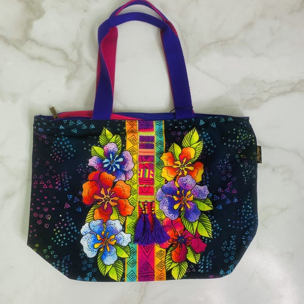 Floral Stamps Tote