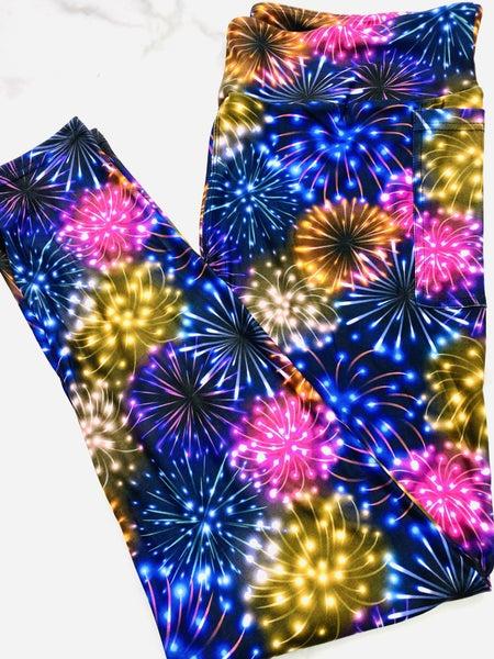 fireworks For Days Capris Leggings