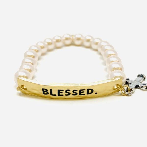 Totally Blessed Kids Pearl Bracelet